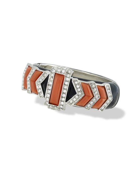 Kenneth Jay Lane | Multicolor Coral Art Deco Bracelet | Lyst