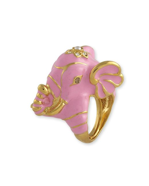 Kenneth Jay Lane | Pink Elephant Ring | Lyst