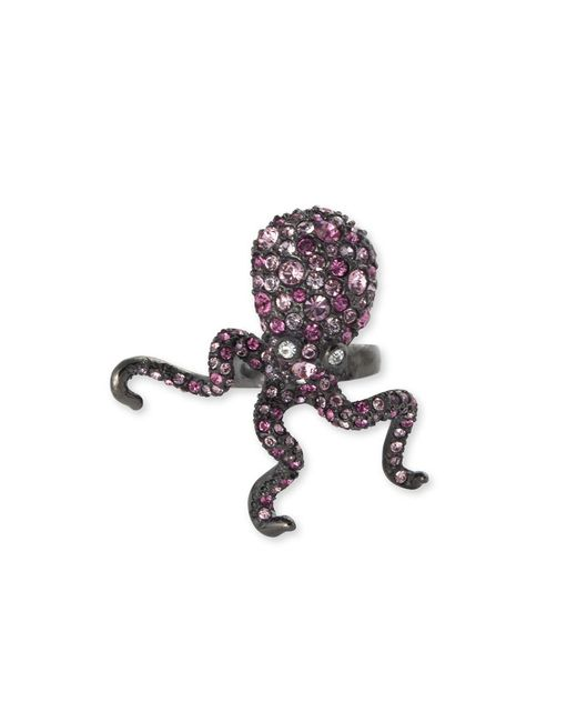 Kenneth Jay Lane | Multicolor Multi Pink Pavé Octopus Ring | Lyst