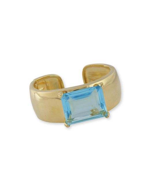 Kenneth Jay Lane | Blue Aquamarine Cuff | Lyst