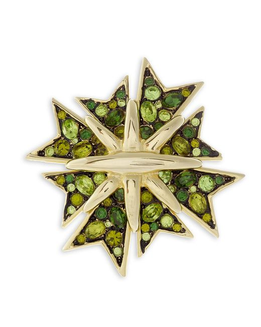 Kenneth Jay Lane | Green Maltese Cross Brooch | Lyst