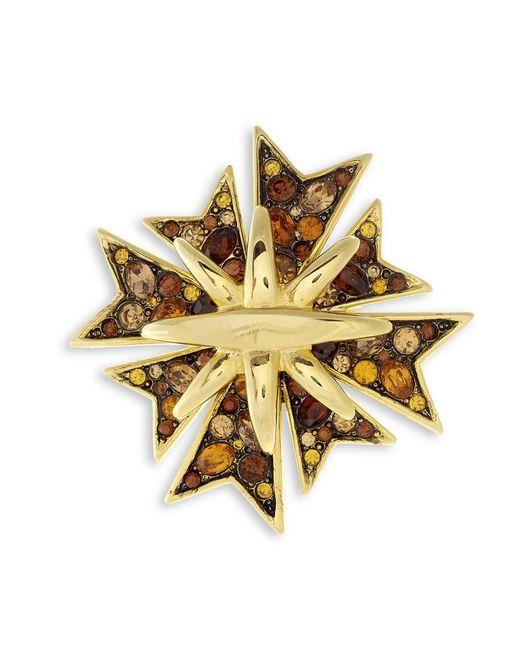 Kenneth Jay Lane   Metallic Topaz Maltese Cross Brooch   Lyst