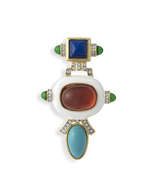 Kenneth Jay Lane | White And Ruby Brooch | Lyst