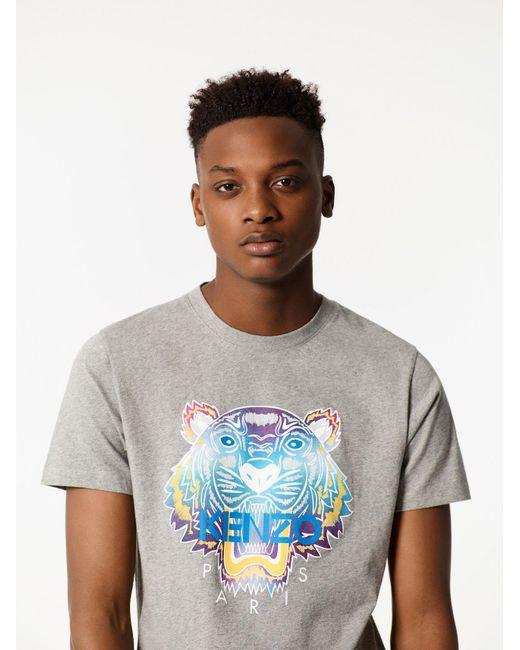 KENZO   Gray Rainbow Tiger T-shirt for Men   Lyst