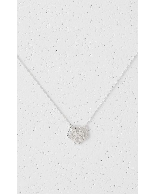 KENZO | Metallic Medium Tiger Necklace | Lyst