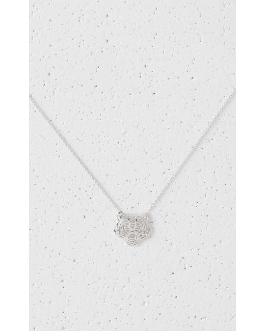 KENZO   Metallic Medium Tiger Necklace   Lyst