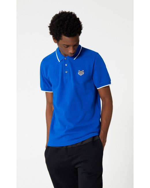 e16d7cff2 KENZO - Blue Tiger Polo Shirt for Men - Lyst ...