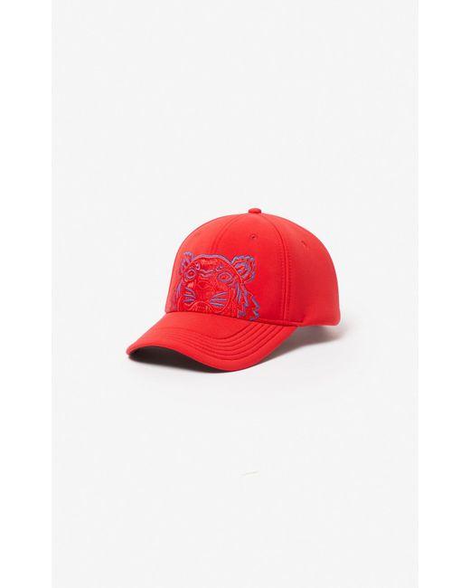 KENZO - Red Neoprene Tiger Cap for Men - Lyst