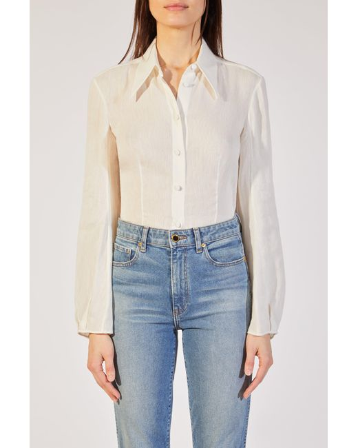 Khaite - White The Serena Top - Lyst