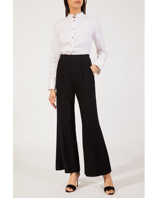 Khaite - Black Georgia Flared Trousers - Lyst