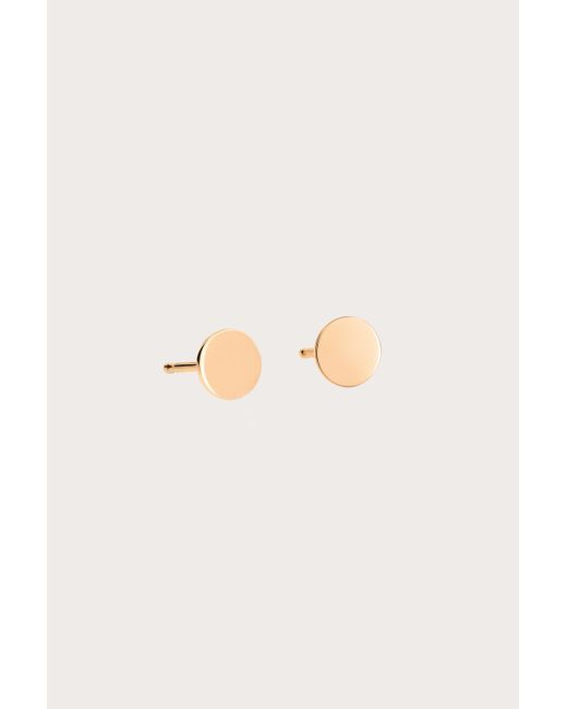 Ginette NY - Pink Rose Gold Mini Ever Disc Studs - Lyst