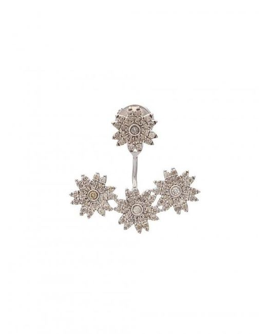 Yvonne Léon | Multicolor Diamond Flower Stud Earring | Lyst