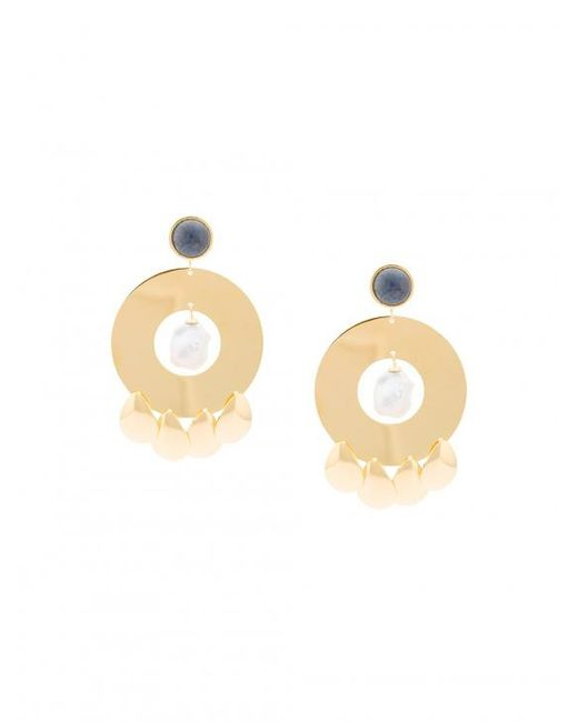 Lizzie Fortunato | Metallic Golden Hour Circle Earrings | Lyst