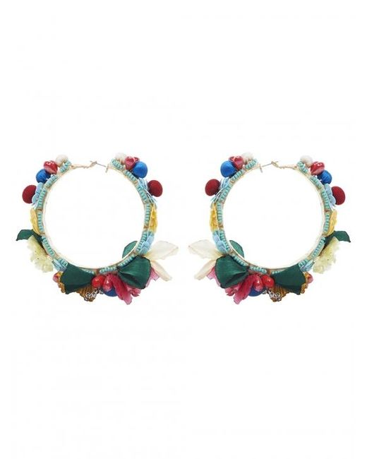 Ranjana Khan | Multicolor Flower Hoop Earrings | Lyst