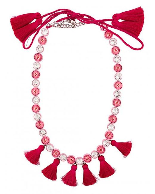 Shourouk | Sautoir Tassel Necklace - Pink | Lyst