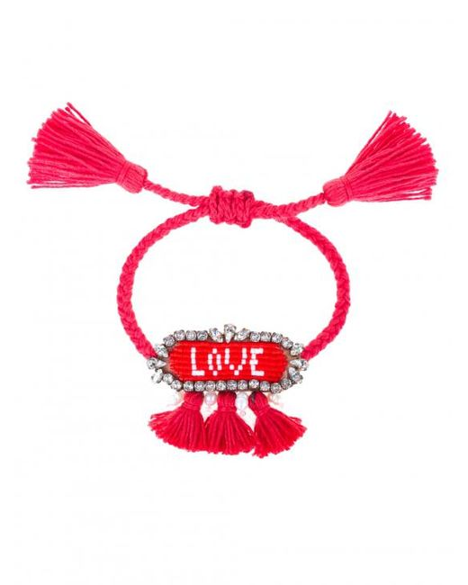 Shourouk   Red Hippie Love Bracelet   Lyst