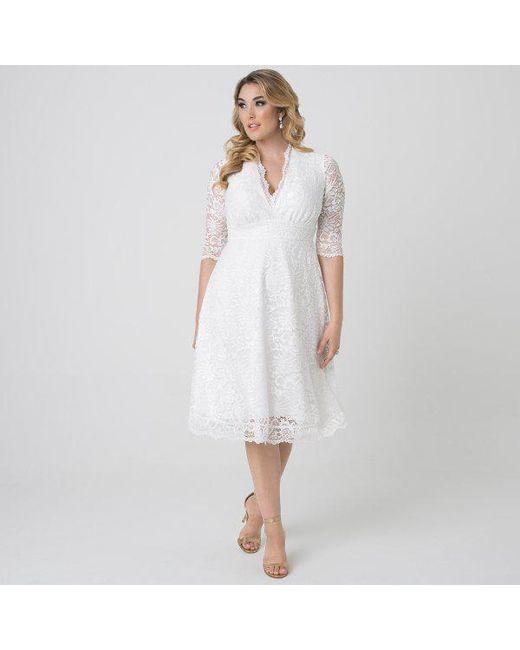 ea8a831aa89d1 ... Kiyonna - White Wedding Belle Dress - Lyst ...