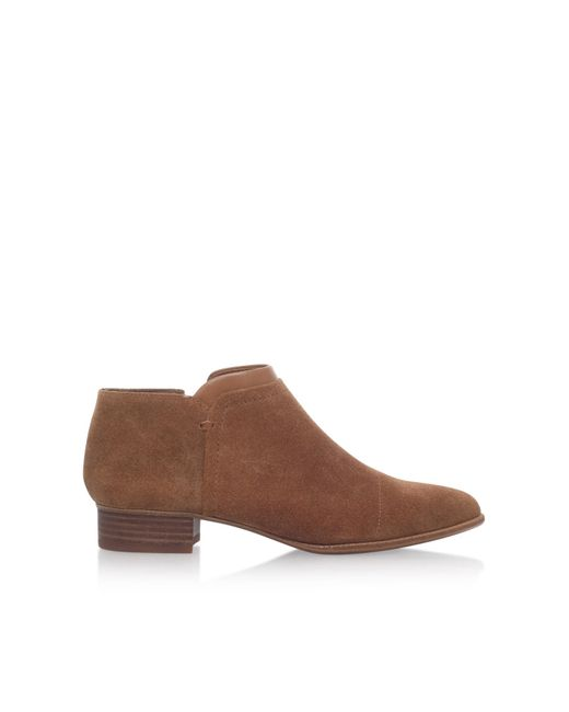 vince camuto jody suede ankle boots in brown save 18 lyst