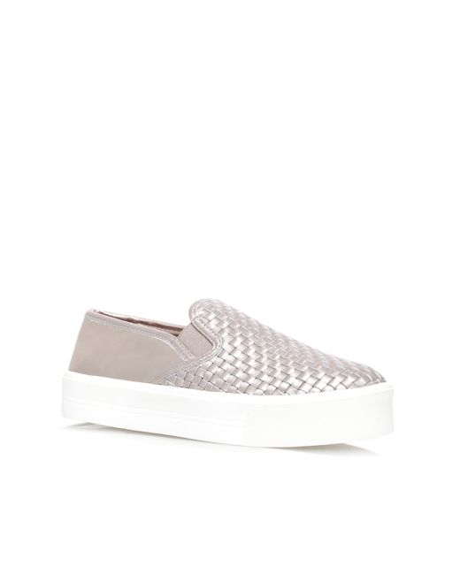 Carvela Kurt Geiger | Metallic Lagos Flat Slip On Trainers | Lyst