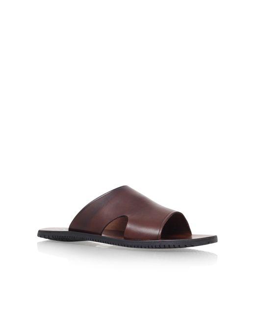 Kurt Geiger | Brown Karl Leather Sandals for Men | Lyst