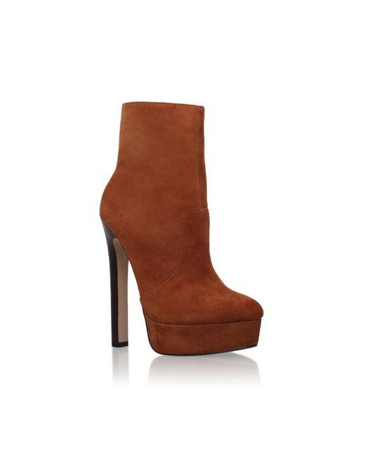 Carvela Kurt Geiger | Brown Sizzle High Heel Boots | Lyst