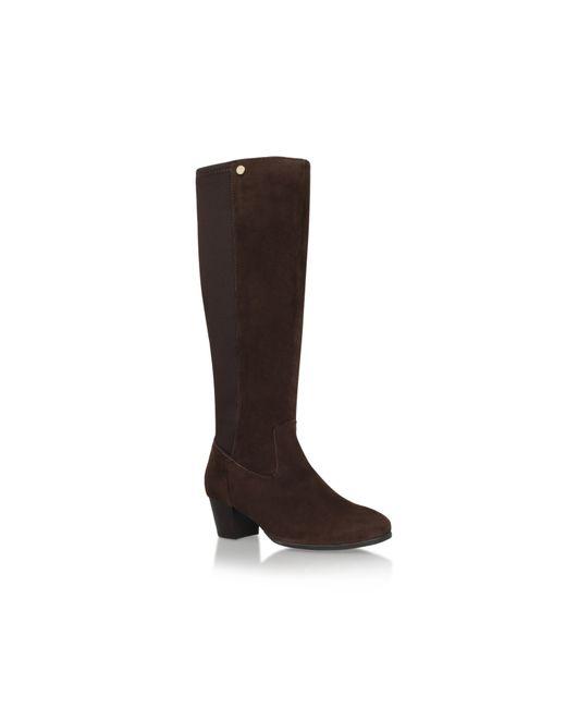 Carvela Kurt Geiger | Brown Valerie Mid Heel Knee Boots | Lyst
