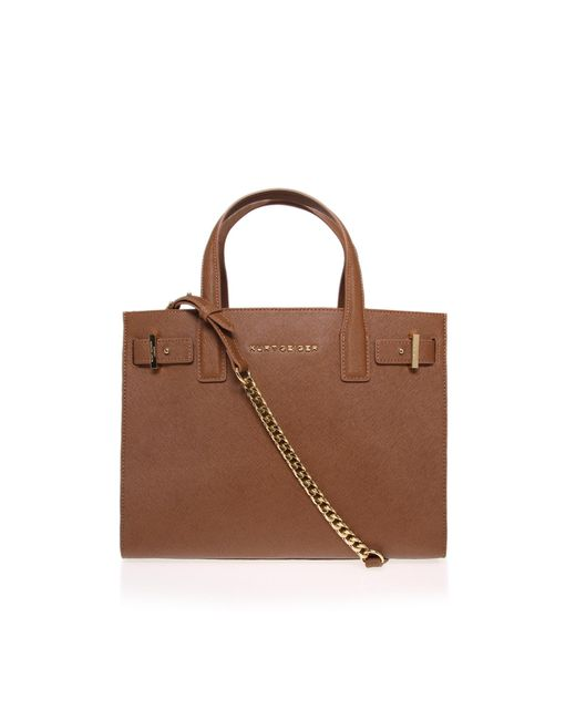 Kurt Geiger - Brown Saffiano London Tote Bag - Lyst
