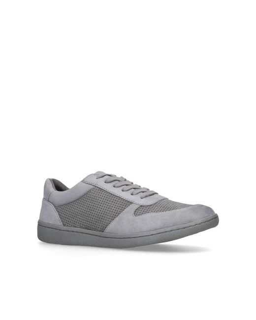 KG by Kurt Geiger - Gray Grey 'layla' Lace Up Trainers - Lyst