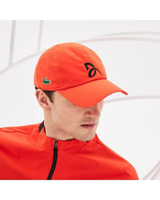 15a0fb5ac543d Lacoste - Red Sport Tennis Microfiber Cap - Support With Style Collection  For Novak Djokovic for ...