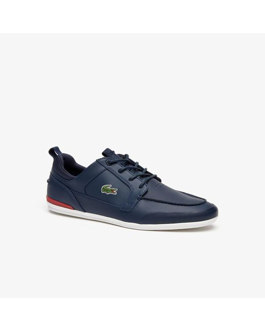 68f6b599a Lacoste - Blue Marina Textile And Leather Deck Shoes for Men - Lyst ...