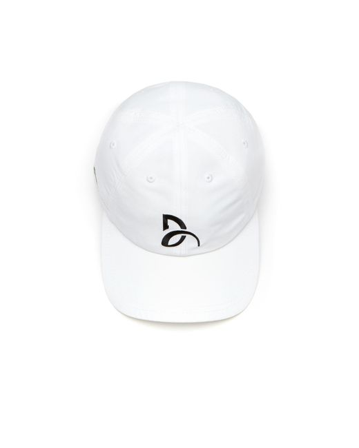 050fd5c04da ... Lacoste - White Sport Tennis Microfiber Cap - Support With Style  Collection For Novak Djokovic for ...