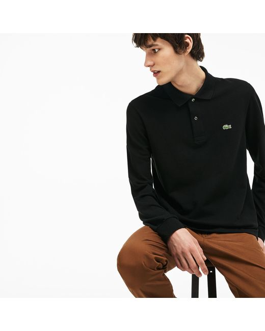 b0cf5b907 ... Lacoste - Black Long-sleeve L.12.12 Polo Shirt for Men - Lyst ...