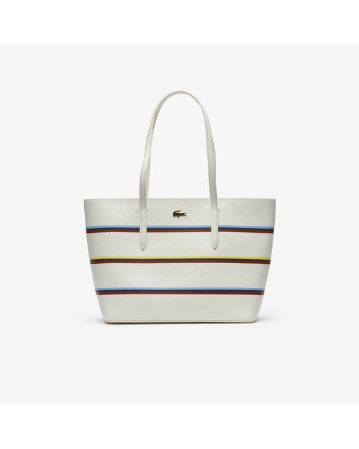 bd40bf5cd401e8 ... Lacoste - Multicolor Chantaco Leather Tote Bag - Lyst ...