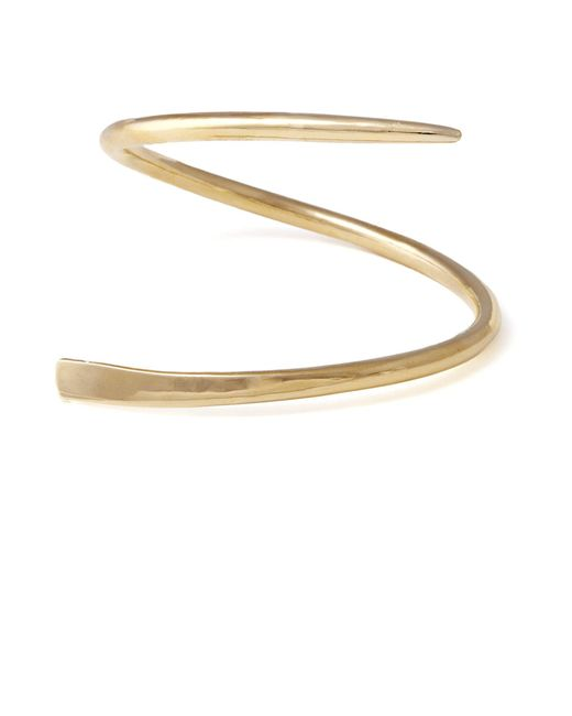 Lady Grey | Metallic Ribbon Cuff In Gold | Lyst