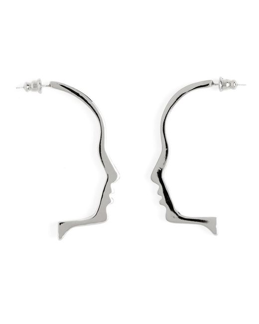Lady Grey - Metallic Silhouette Earring In Silver - Lyst