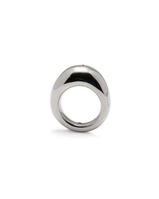 Lady Grey - Multicolor Organic Ring In Rhodium - Lyst