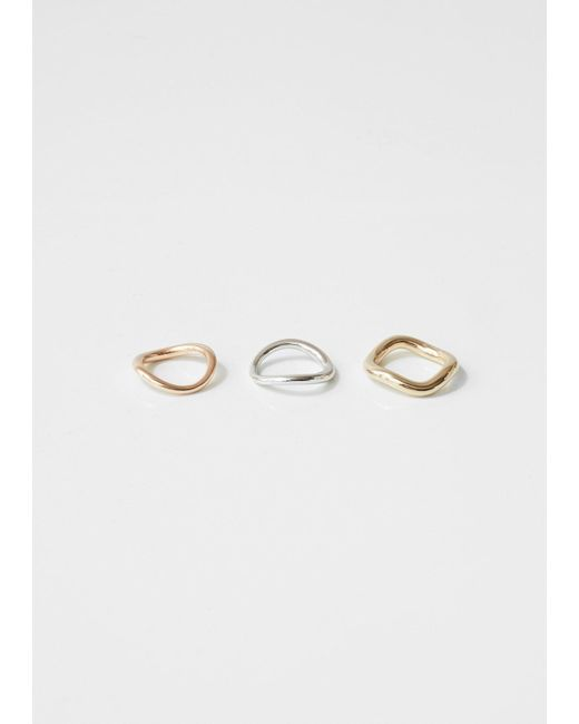 Charlotte Chesnais Metallic Bagues Wave Ring