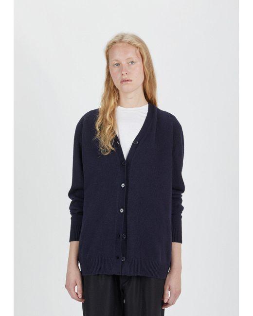 Sara Lanzi | Blue Wool Cashmere Oversized Cardigan | Lyst