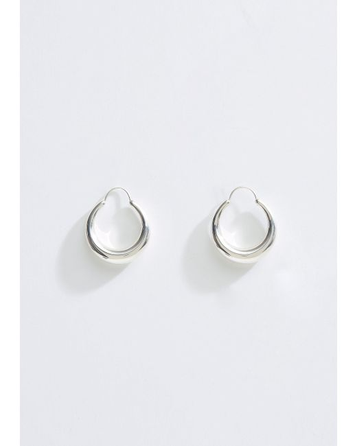 All_blues - Metallic Fat Snake Earrings - Lyst
