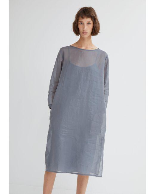 Moderne - Gray Organdy Dress - Lyst