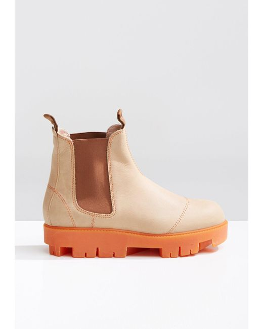 Acne - Brown Tillay Waxed Ankle Boots - Lyst
