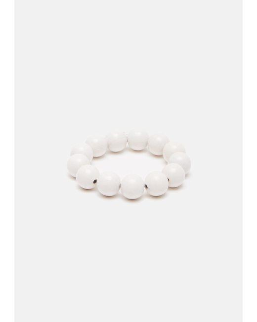 Saskia Diez | White Lacquered Wood Bracelet | Lyst