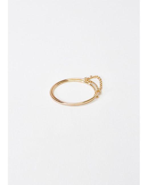 Saskia Diez | Metallic Double Wire Ring | Lyst