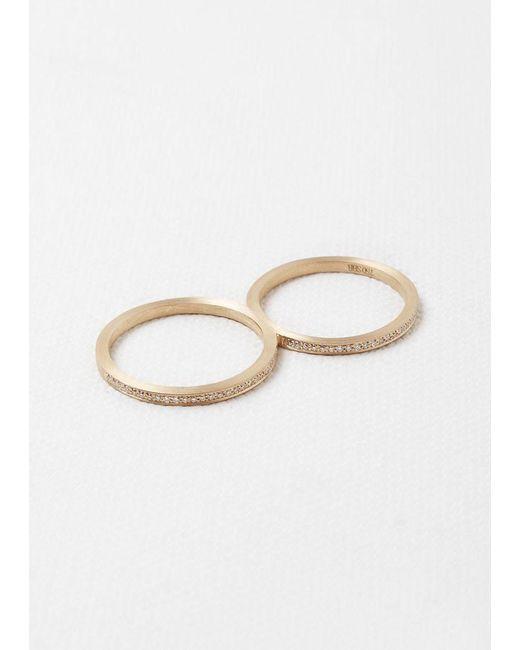 Sophie Bille Brahe | Metallic Rue De Diamant Double Ring | Lyst