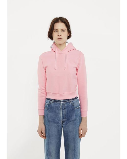 Vetements X Champion Fitted Hoodie in Pink - Save 40% | Lyst