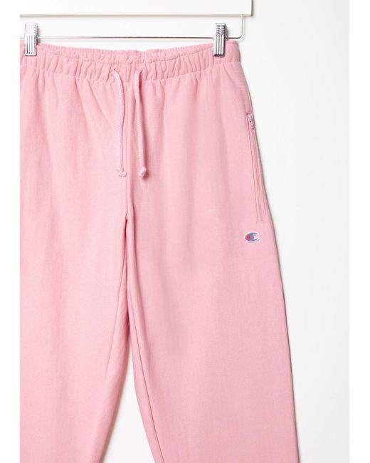 Vetements X Champion Knee Shape Sweatpants In Pink