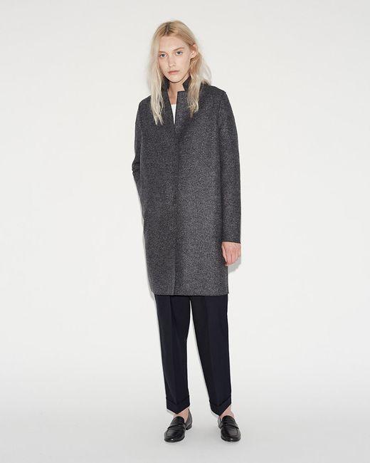 harris wharf london cocoon coat in blue lyst. Black Bedroom Furniture Sets. Home Design Ideas