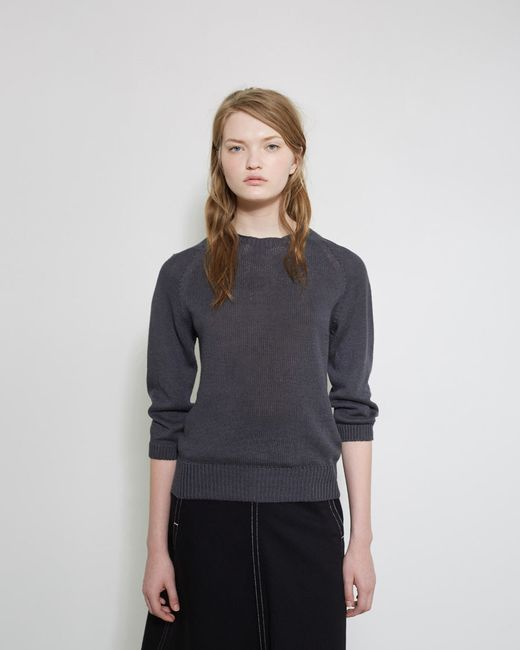 Margaret howell linen sweater in gray slate lyst