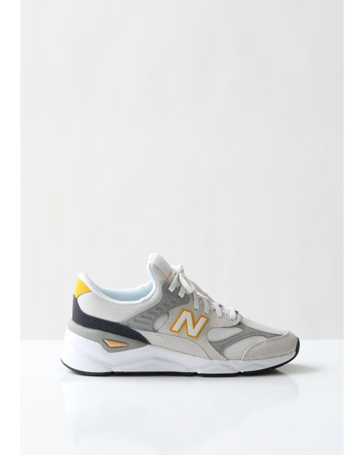 ec473f754f9ca New Balance - Gray X90 Re-constructed Suede Mesh Sneakers for Men - Lyst ...