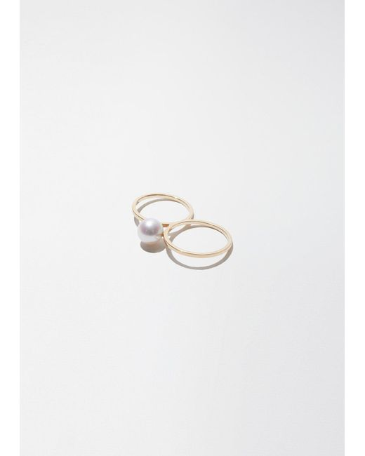 Sophie Bille Brahe - Metallic Double De Perle Ring - Lyst